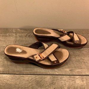 Cole Haan Cross Wedge Sandals Women's 9